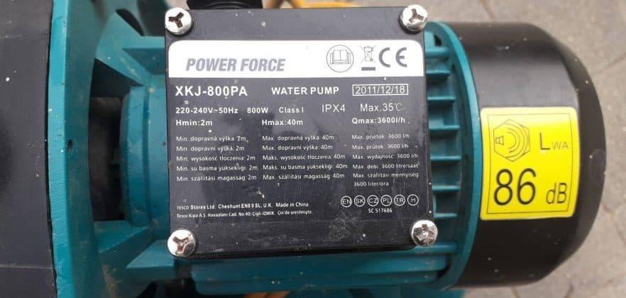 power force szivattyú tesco
