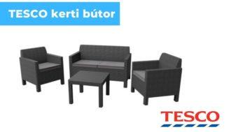 Tesco kerti bútor, rattan hatású kerti bútorok